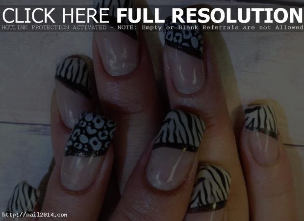 Black  White Stunning Nail Art