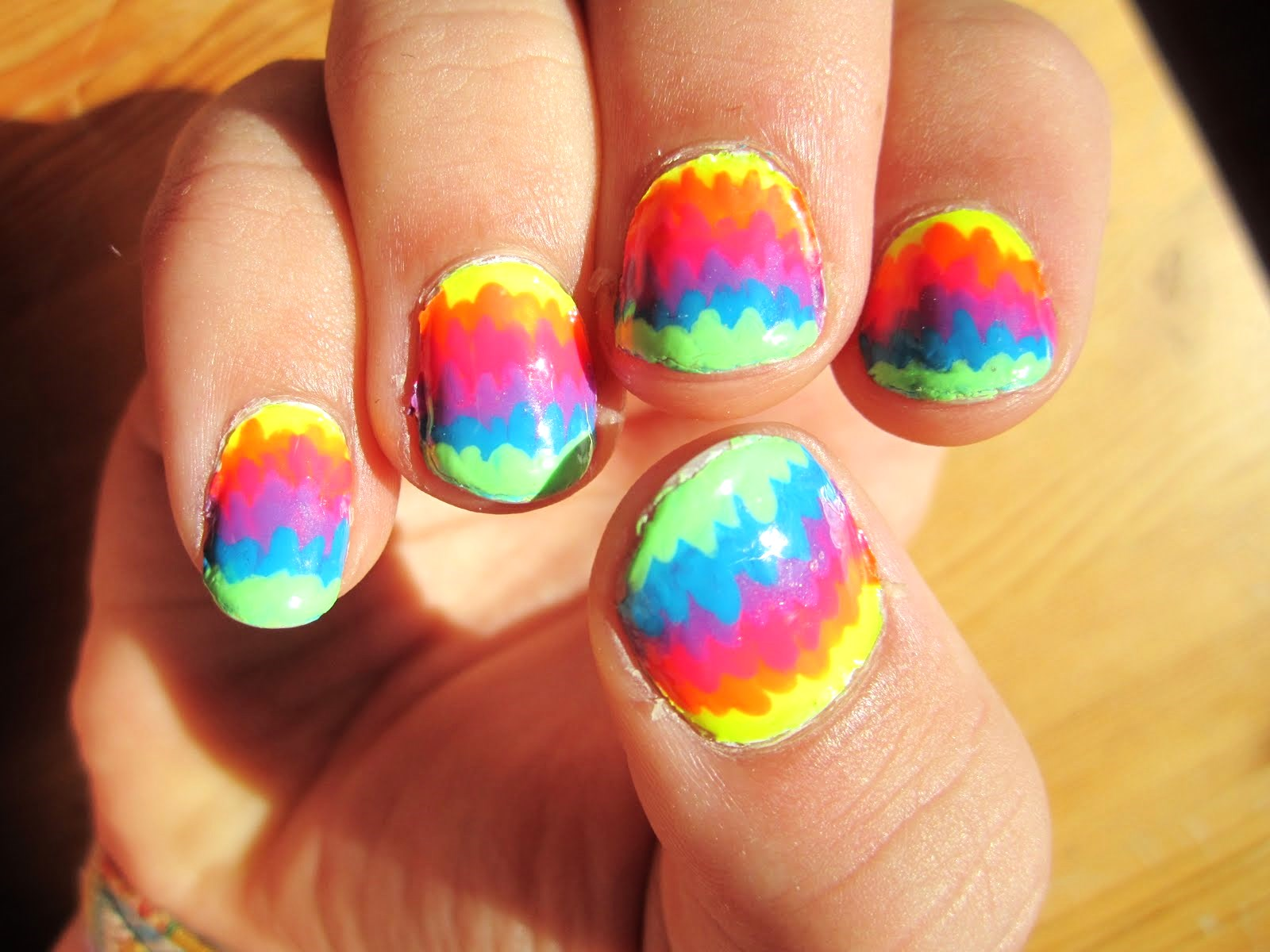 Rainbow Nail Design Polish