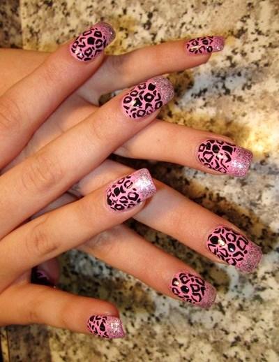 Beautiful Cheetah Nail Designs