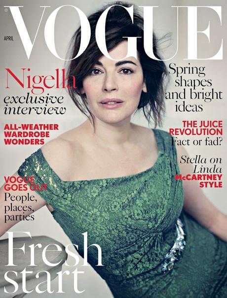 Vogue April 2014 Cover with Nigella Lawson