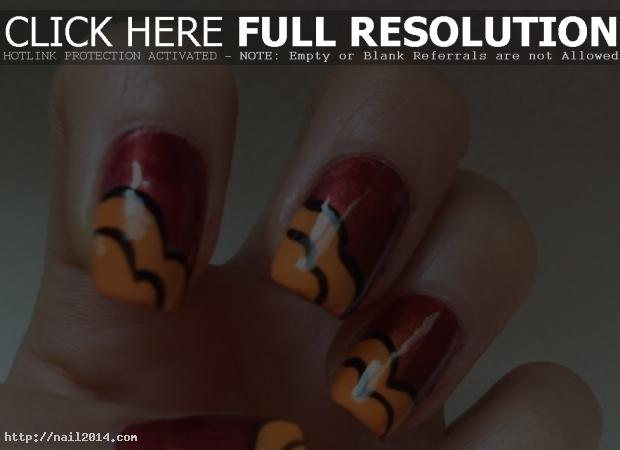 Attractive Nail Designs Fall Pics