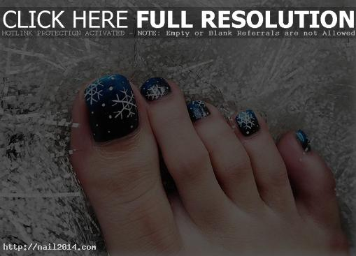 Christmas Nail designs for toes 2015