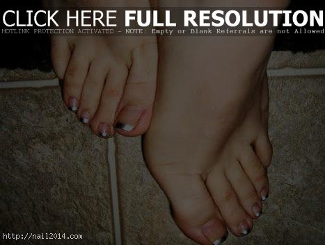 Attractive Stylish French Tip Toes 2015