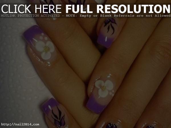 Easy Purple Nail Design Ideas