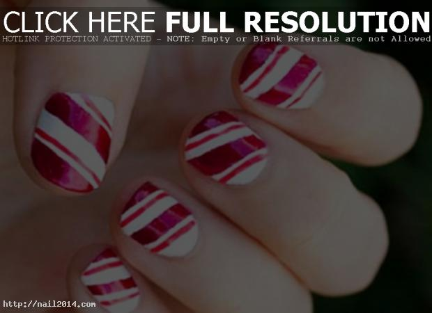 Lining Texture Easy Nail Deisgn