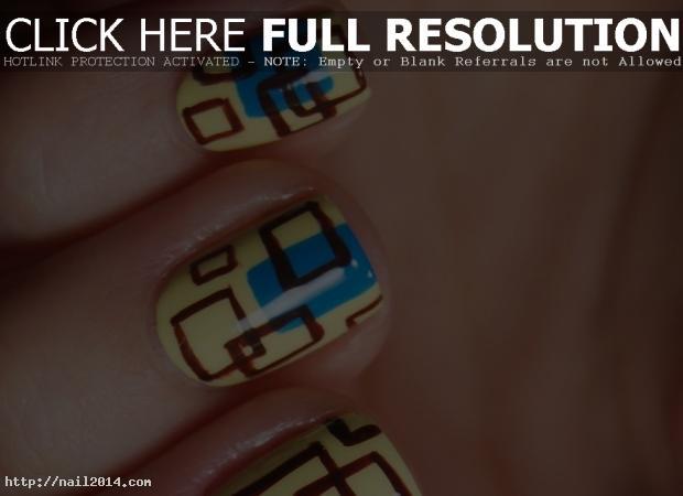 easy pedicure nail pattern