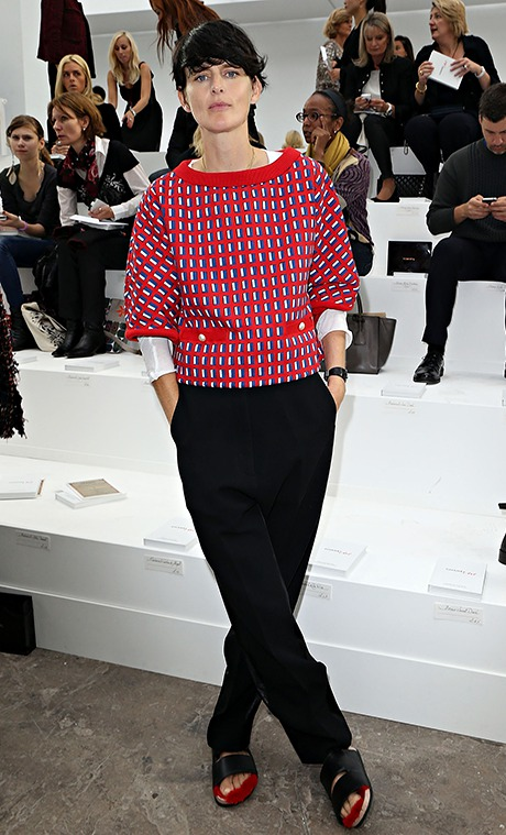 Stella Tennant attends the Chanel show as part of the Paris Fashion Week