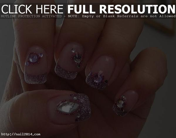 nail designs with glitter tips