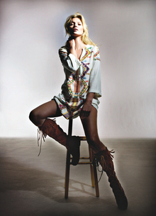 Kate Moss's new Aztec kaftan.