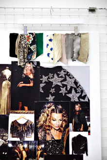 Kate Moss's moodboards.