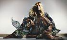 Kate Moss's new silk evening pyjamas, part of her upcoming Topshop collection.