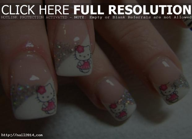 hello kitty nail arts design