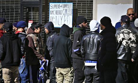 The crowd outside Supreme's New York store this week.