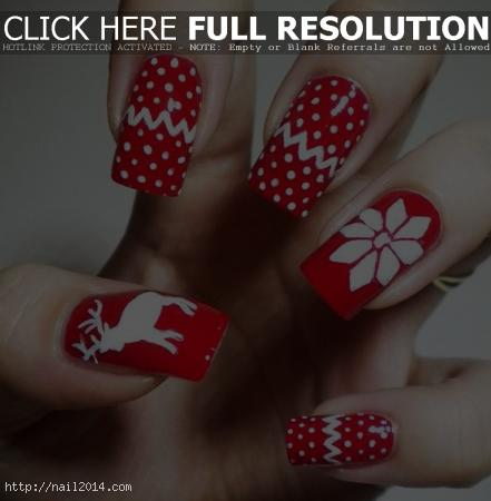2015 Beautiful Christmas Nail Art Ideas