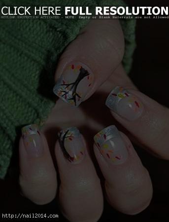 Decorate Autumn Nail Design 2015