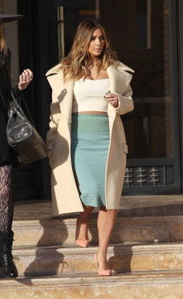 Kim Kardashian is seen on January 6, 2014 in Los Angeles, California.