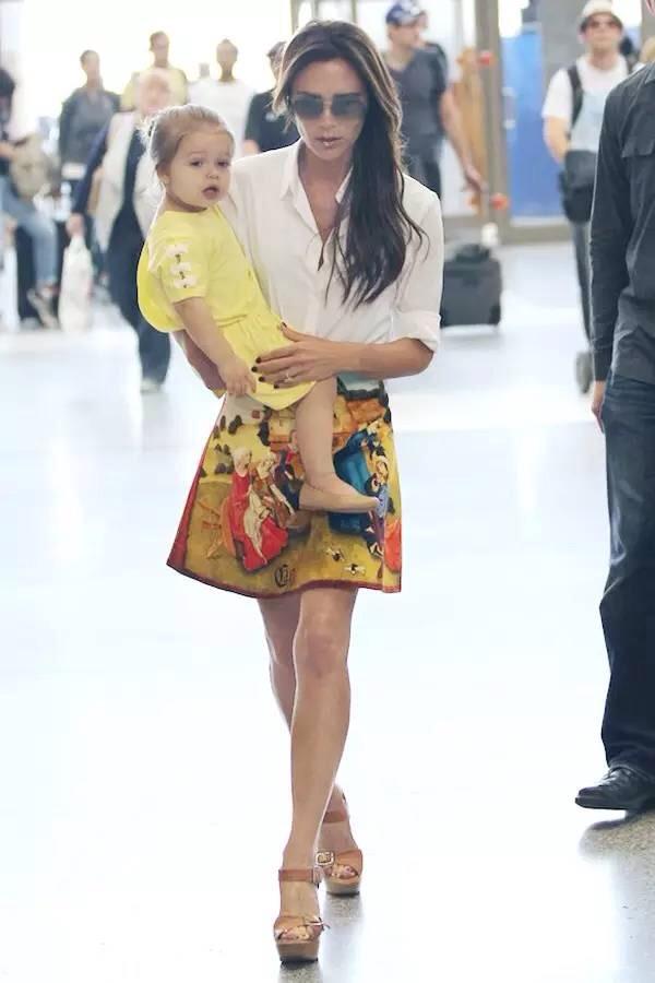 Victoria Beckham in Floral A line skirt