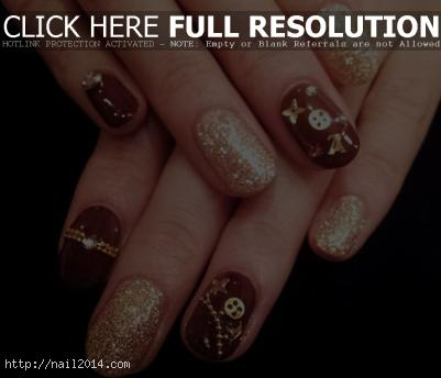 Louis Vuitton Nail Art Pattern
