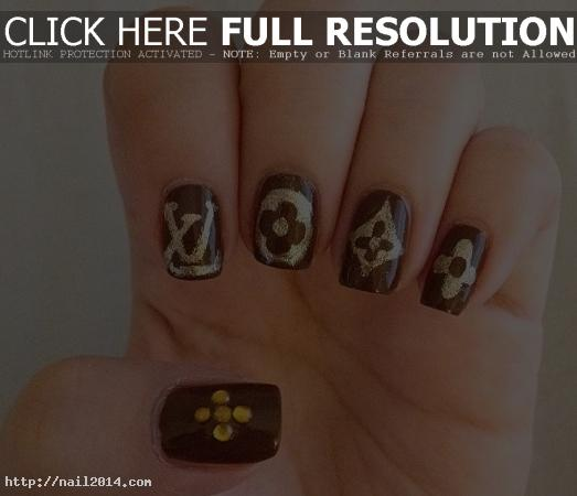 Nail Art Design Tumblr Louis Vuitton