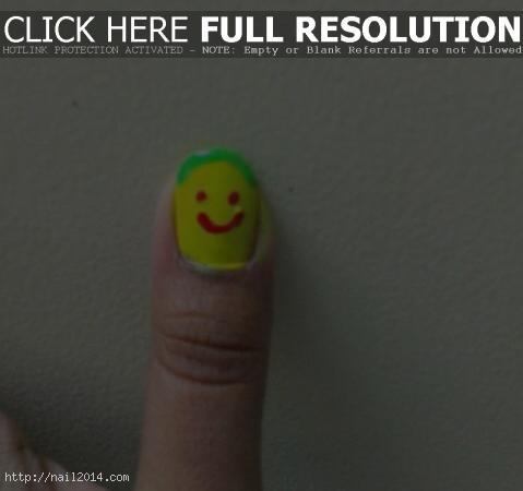 Green Yellow Face Easter Art
