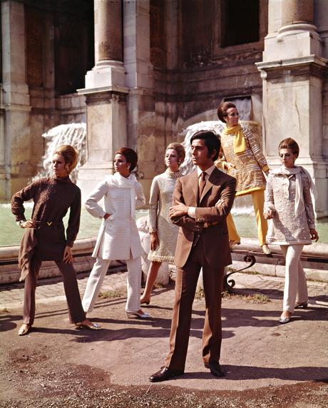 Valentino in Rome in 1967.