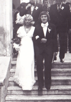 Petra's parents on their wedding day