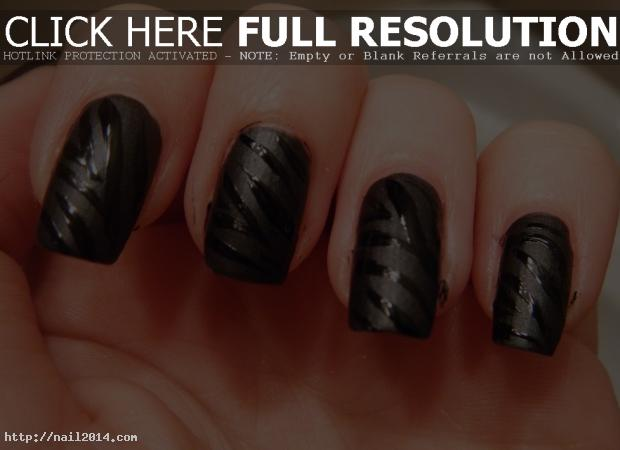 Easy Black Nail Gel Designs