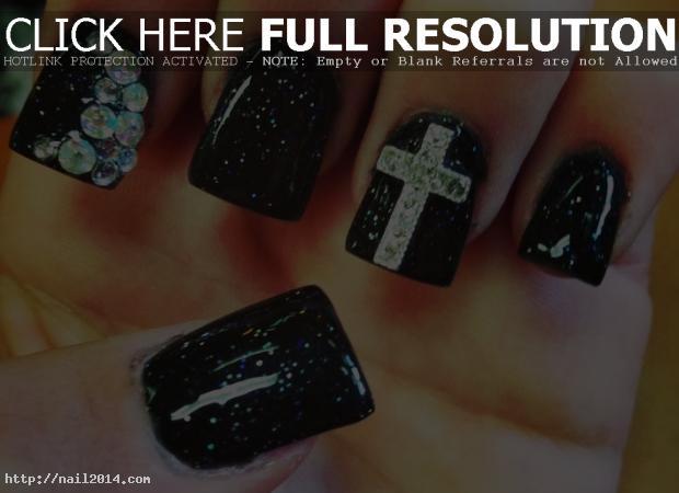 2015 Creative Symbolic Gel Nail Designs