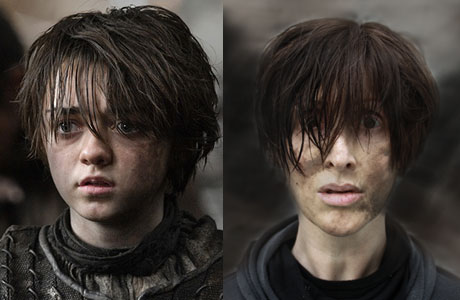 E as Arya Game of Thrones makeover