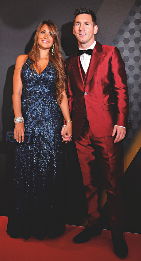Lionel Messi with his girlfriend Antonella Roccuzzo