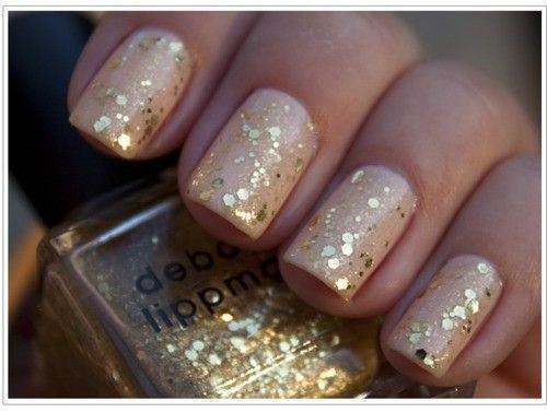 Golden Spot Nails