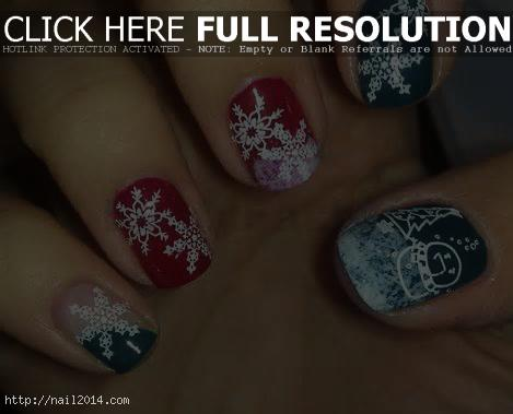 2015 Christmas Nail Designs Ideas for Kids