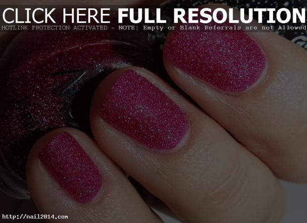 Red Texture Image Nail Ideas