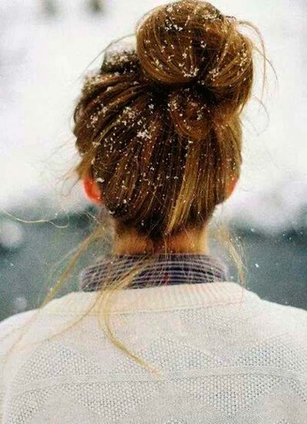 Winter Hairstyles to Wear When It's Snowing
