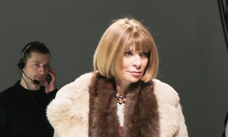 Vogue editor Anna Wintour in a rare 'sans sunglasses' moment