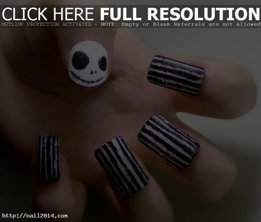 Cool Halloween Nail Art Designs Lining