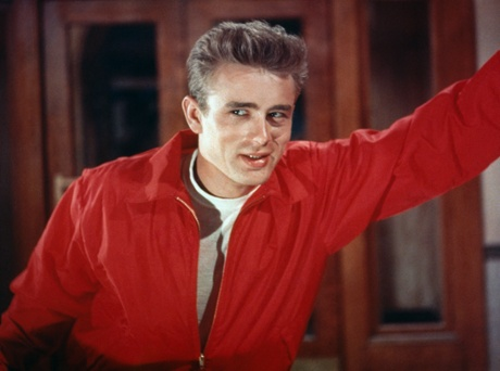 James Dean on the set of Rebel Without a Cause