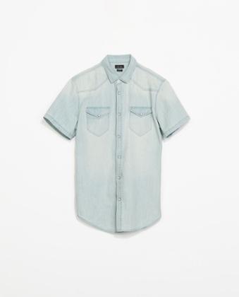 Denim shirt 22.99 zara.com - James Dean Fashion