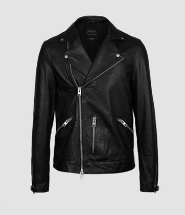 Hemsley leather biker jacket, 358, allsaints.com