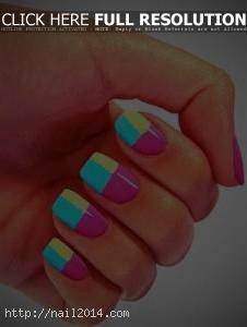 2014 Decent Stylish Nail Polish Design Ideas 2015