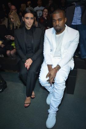 Kim Kardashian and Kanye West Givenchy Fall/Winter 2013 Ready-to-Wear show, Paris Fashion Week, March 3, 2013