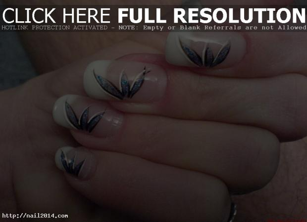 white tip designs for nails