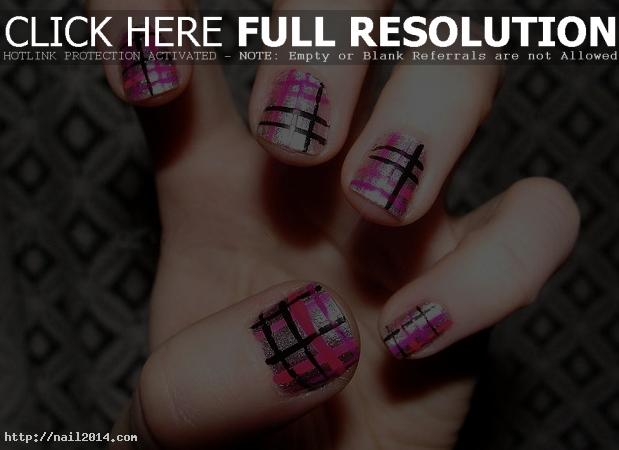 Checks Nail Art Design