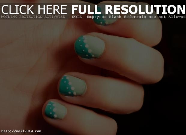 Easy simple nail pattern color