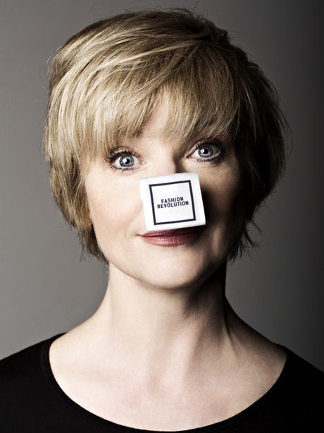 Jane Horrocks participates in the Fashion Revolution Day #insideout event