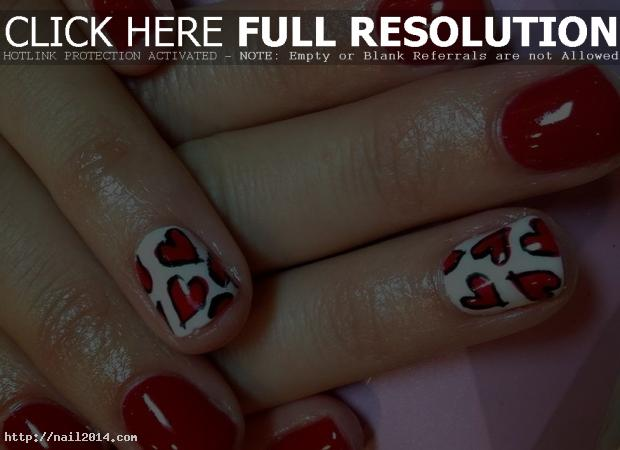 valentines nail art designs for beginners